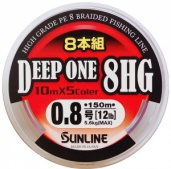шнур deep one 150m #1.5/ 7,3kg/ 0,205mm